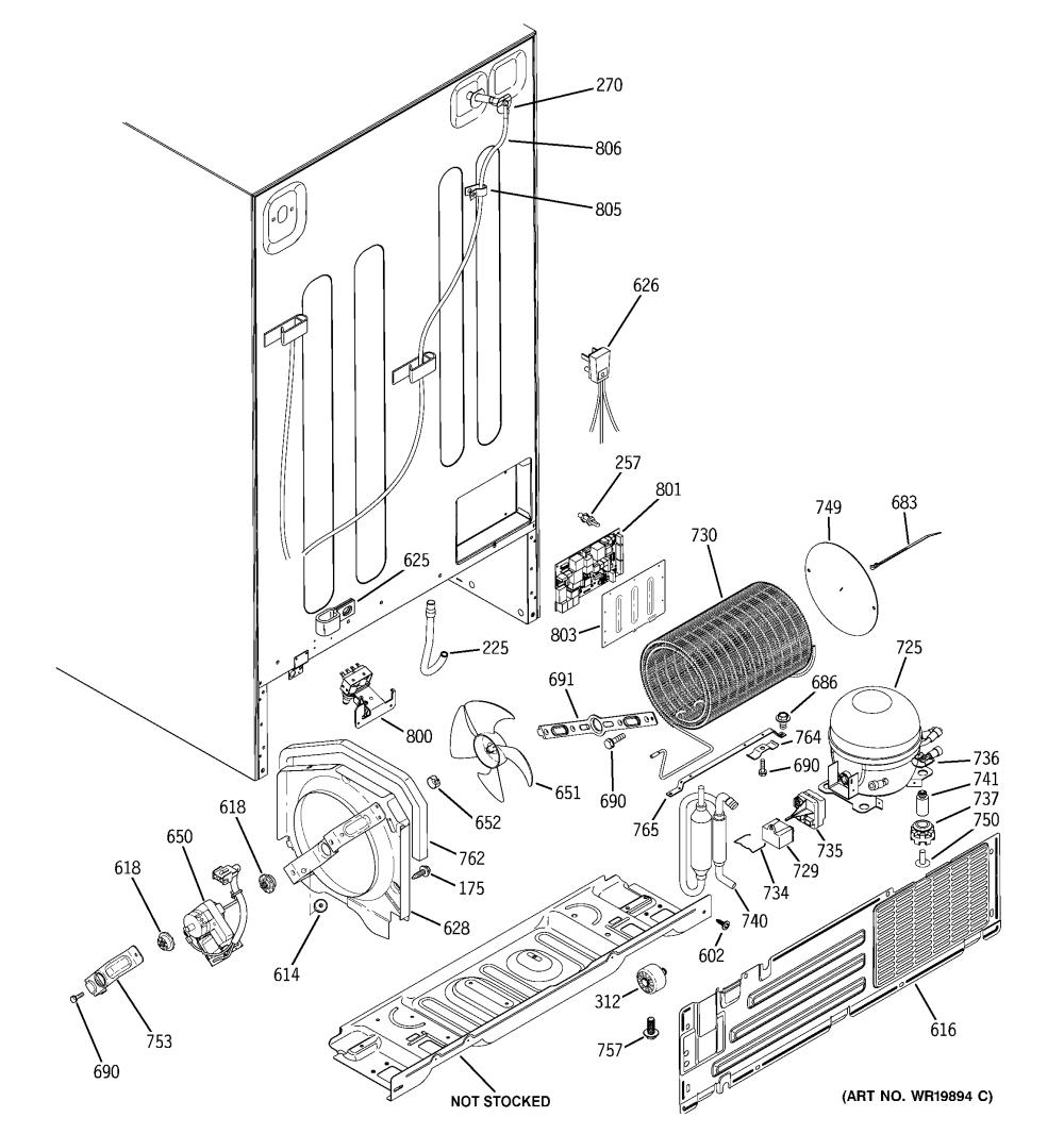 medium resolution of ge model gss25qgtabb side by side refrigerator genuine parts ge refrigerator piping diagram ge eterna refrigerator wiring diagram