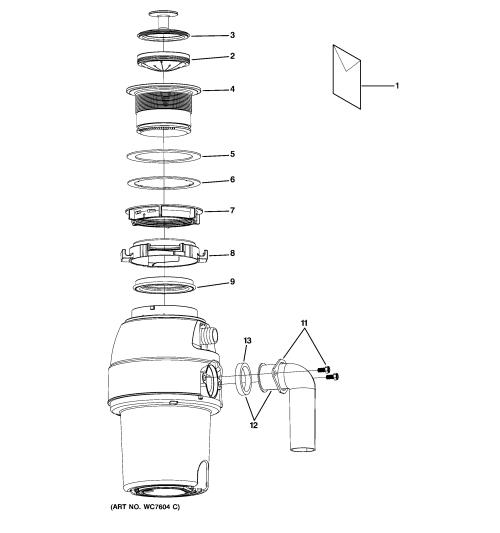 small resolution of ge gfc530v disposer diagram