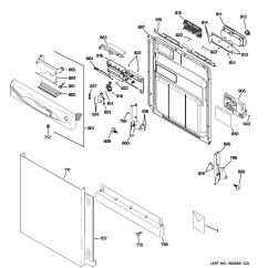 Ge Dishwasher Schematic Diagram Yamaha G1 Golf Cart Solenoid Wiring For Model Gld4900p00ww Door Electric Cooktop