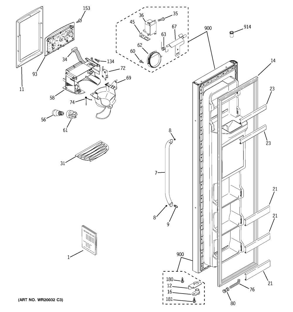 medium resolution of freezer door