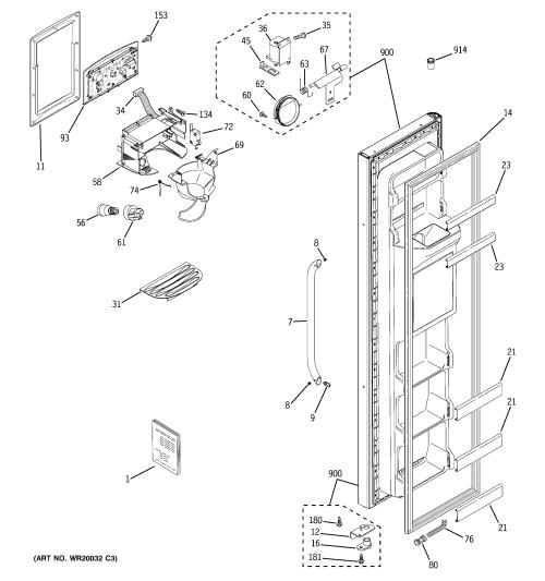 small resolution of freezer door