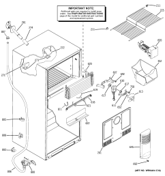 looking for ge model sts18zcpwrww top mount refrigerator repair replacement parts  [ 2320 x 2475 Pixel ]