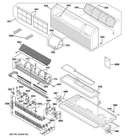 small resolution of ge az41e12eabw2 grille heater base pan parts diagram