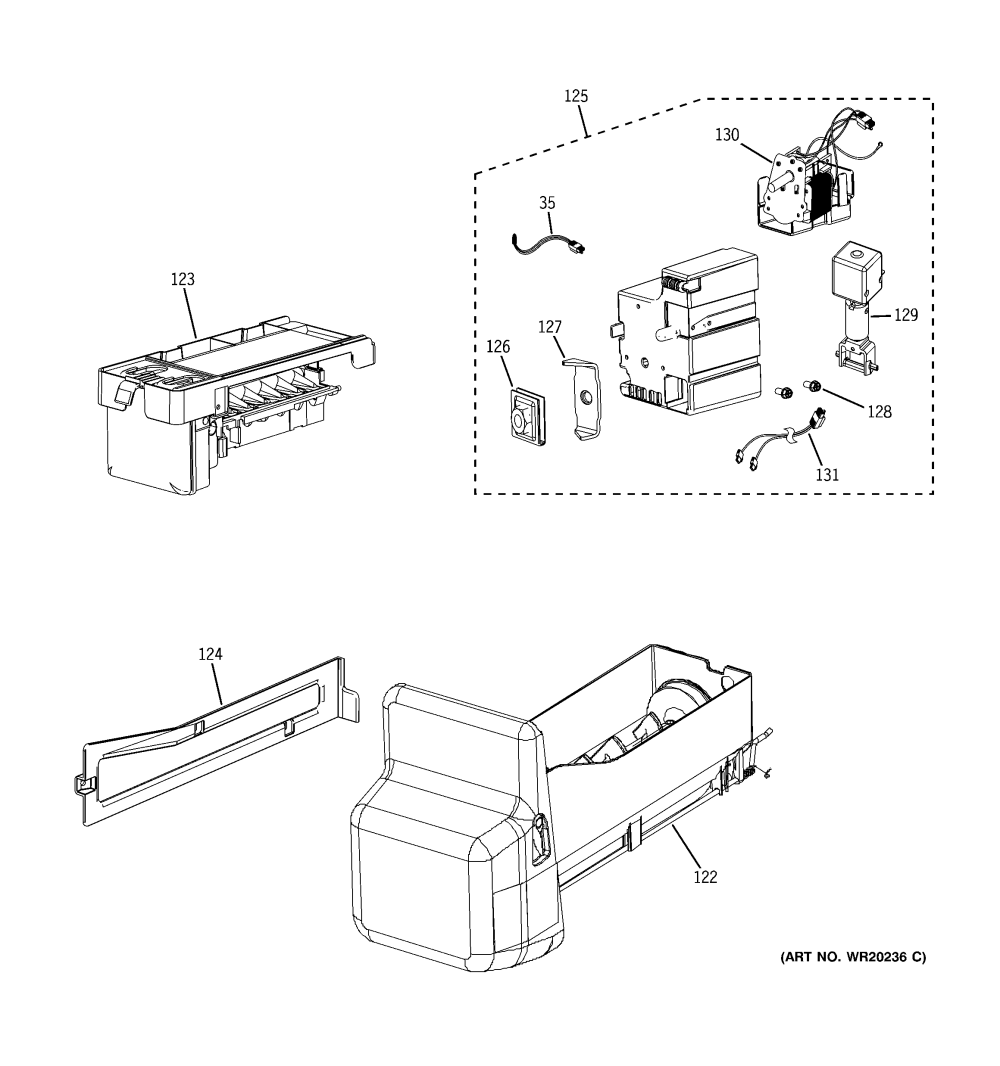 medium resolution of ge model gfss6kkycss bottom mount refrigerator genuine partsge refrigerator water dispenser wiring diagram 8