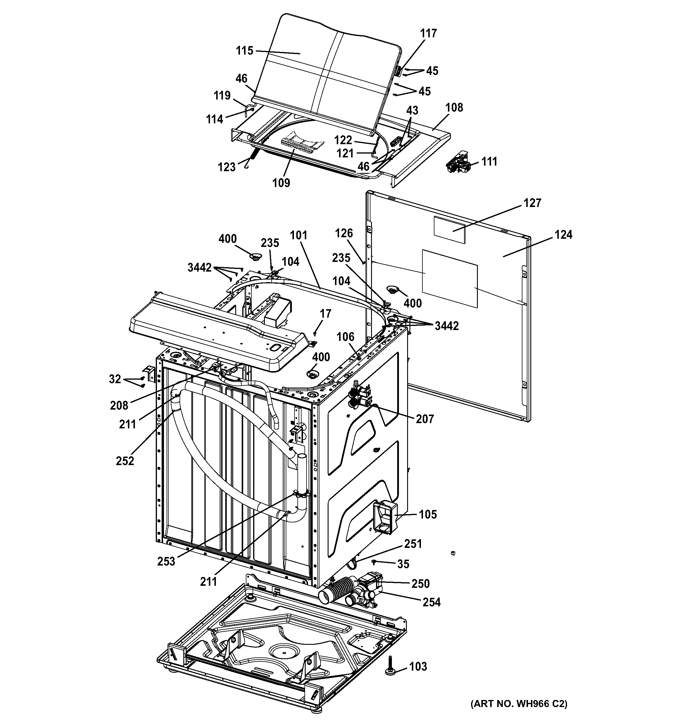 CABINET (6) Diagram & Parts List for Model 2661532110