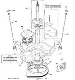 ge gtwn2800d0ww suspension pump drive components diagram [ 2326 x 2475 Pixel ]