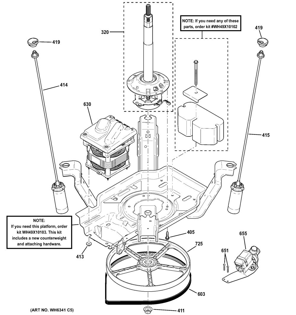 medium resolution of ge gtwn2800d0ww suspension pump drive components diagram