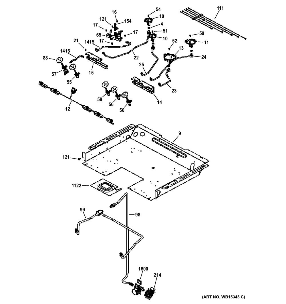 medium resolution of ge p2s920sef1ss gas burner parts diagram