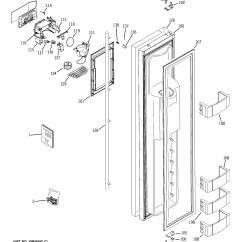 Ge Monogram Refrigerator Parts Diagram 2002 Hyundai Elantra Engine Model Ziss420drcss Side By Genuine Freezer Door