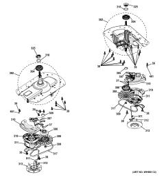 ge gtup270em5ww motor drive assembly diagram [ 2326 x 2476 Pixel ]