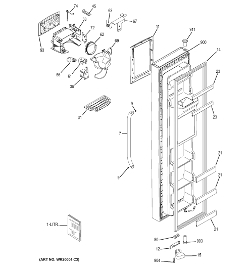 small resolution of ge refrigerator door water line diagram electrical work wiring ge monogram refrigerator diagram ge fridge water