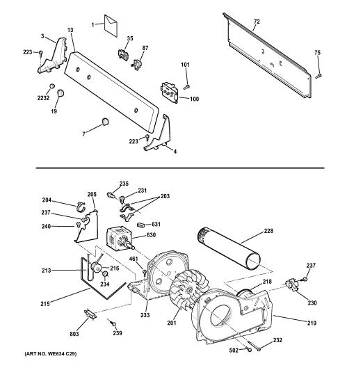 small resolution of hotpoint htdx100em8ww backsplash blower motor assembly diagram