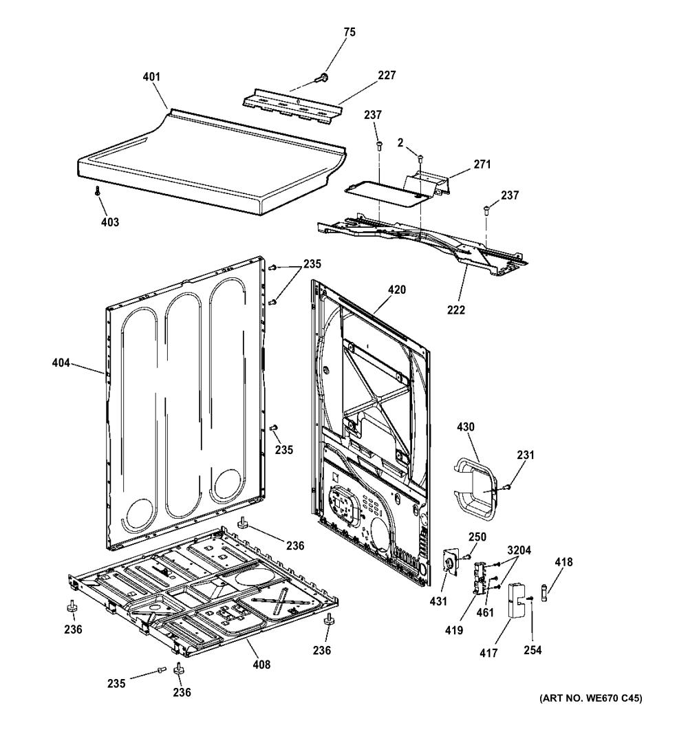 medium resolution of hotpoint htdx100em8ww cabinet top panel diagram
