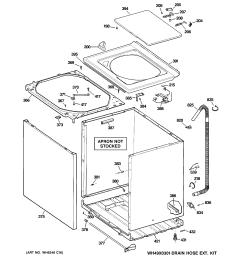 ge gtan5250d2ww cabinet cover front panel diagram [ 2320 x 2475 Pixel ]