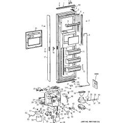 Ge Refrigerator Diagram 1974 Super Beetle Wiring Refrigerators Parts Model Zisb42emb Sears
