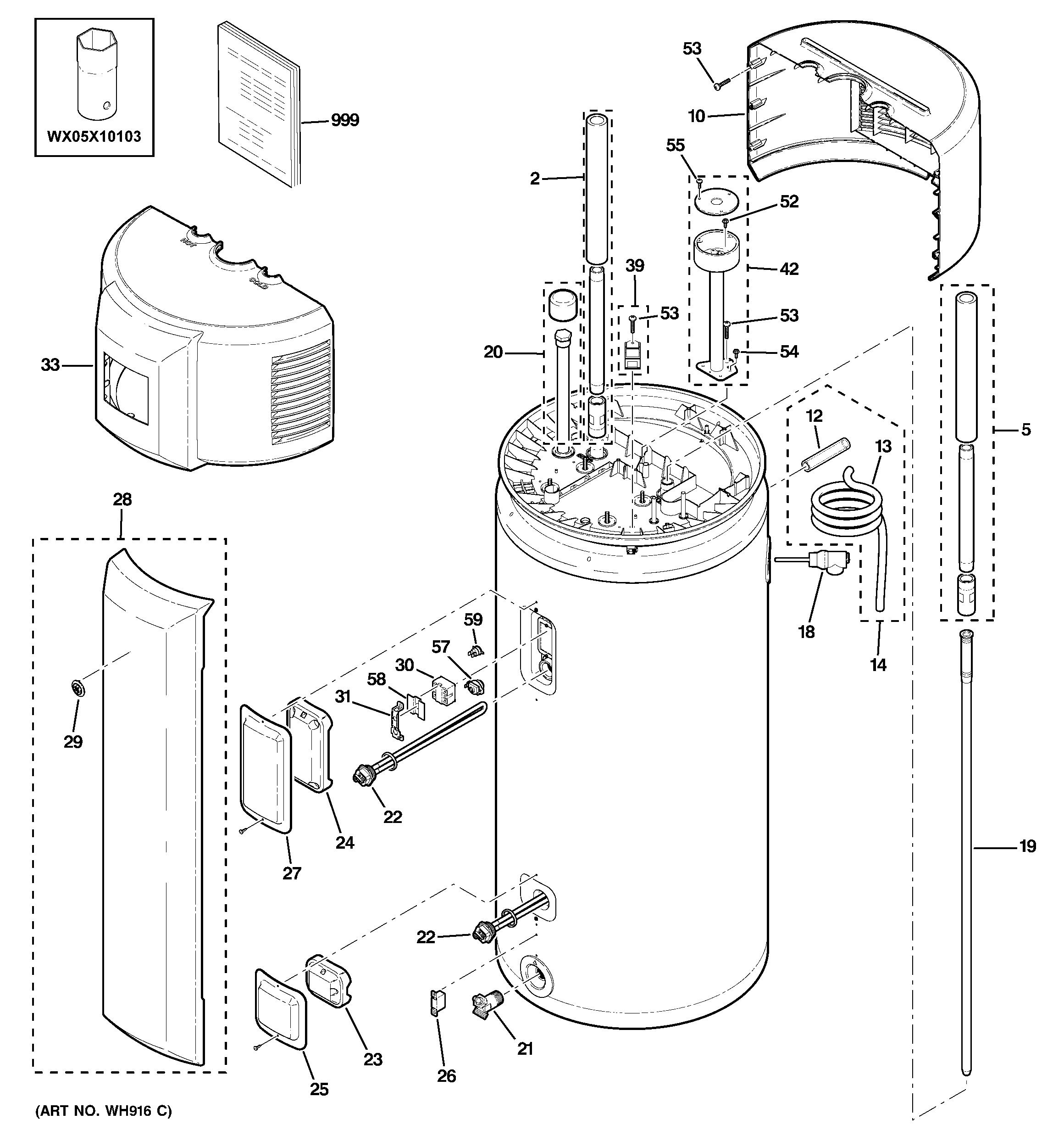 ge electric hot water tank wiring diagram