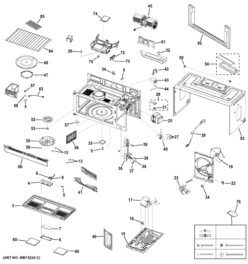 small resolution of ge model jvm7195df1bb microwave hood combo genuine parts ge profile microwave parts diagram
