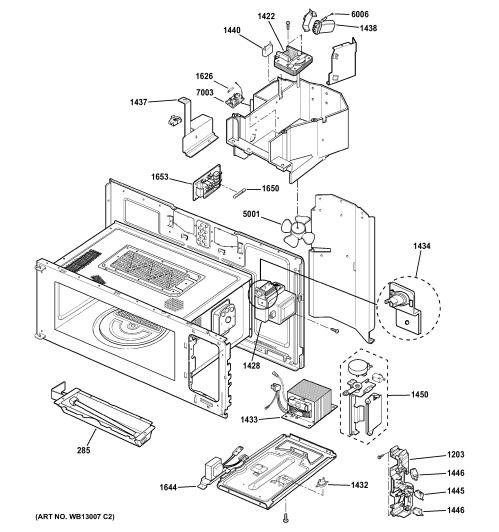 small resolution of ge sca1000hbb03 interior parts 1 diagram