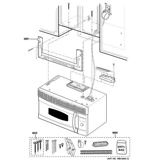 small resolution of ge sca1000hww03 installation parts diagram