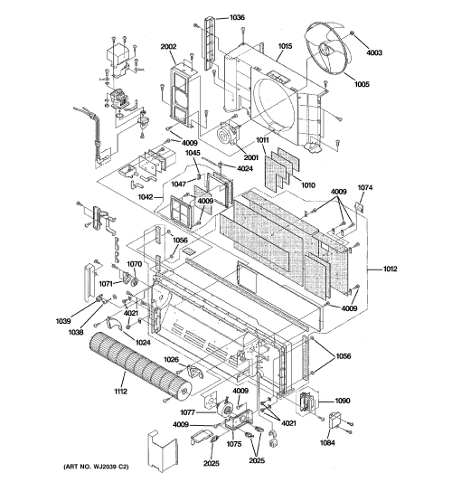 small resolution of ge az41e12dabw2 motor chassis parts diagram