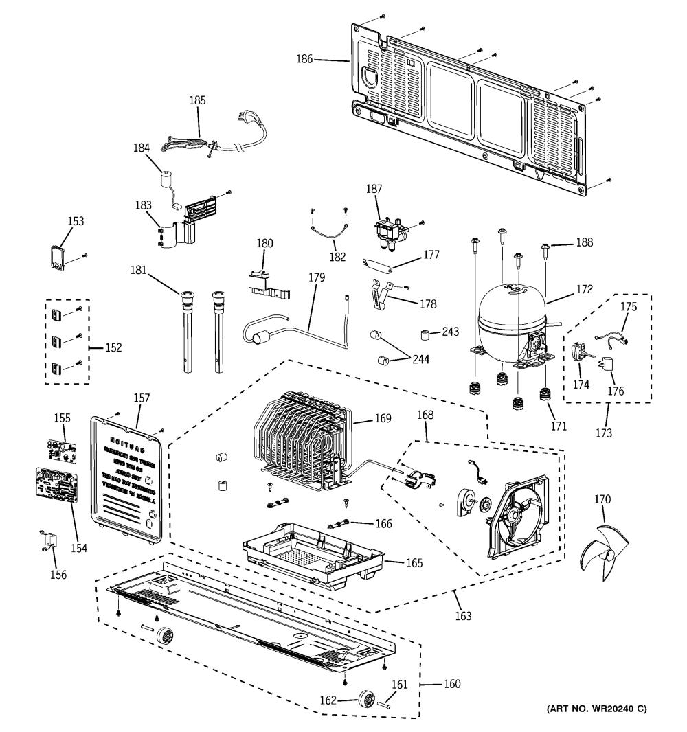 medium resolution of ge pfss6pkxass machine compartment diagram