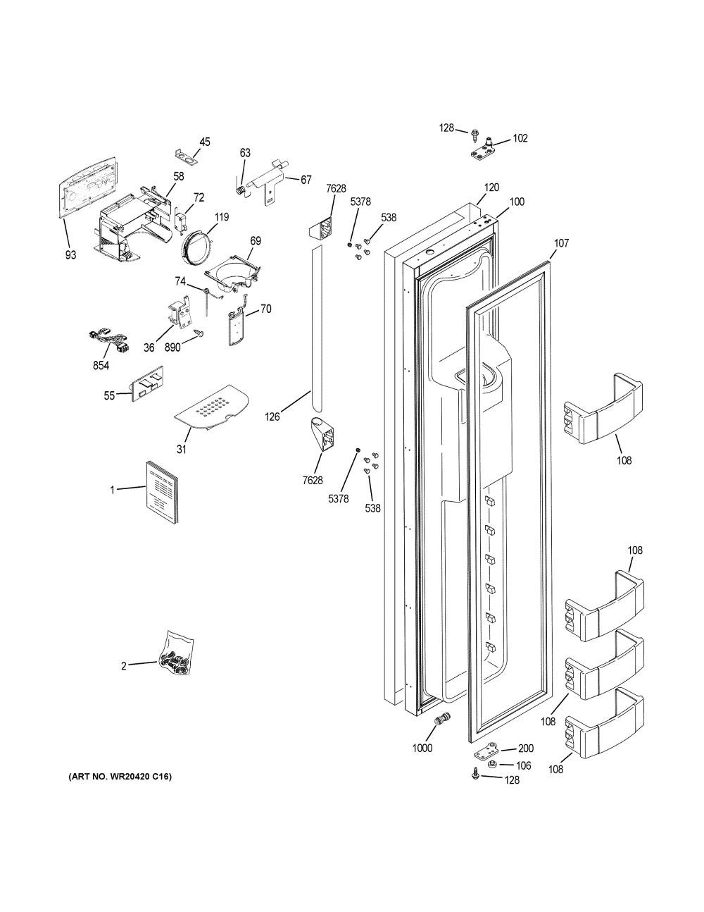 medium resolution of ge wiring diagrams fridge gts22jbpbrww block wiring diagram ge model zcsp480dmbss side by side refrigerator genuine