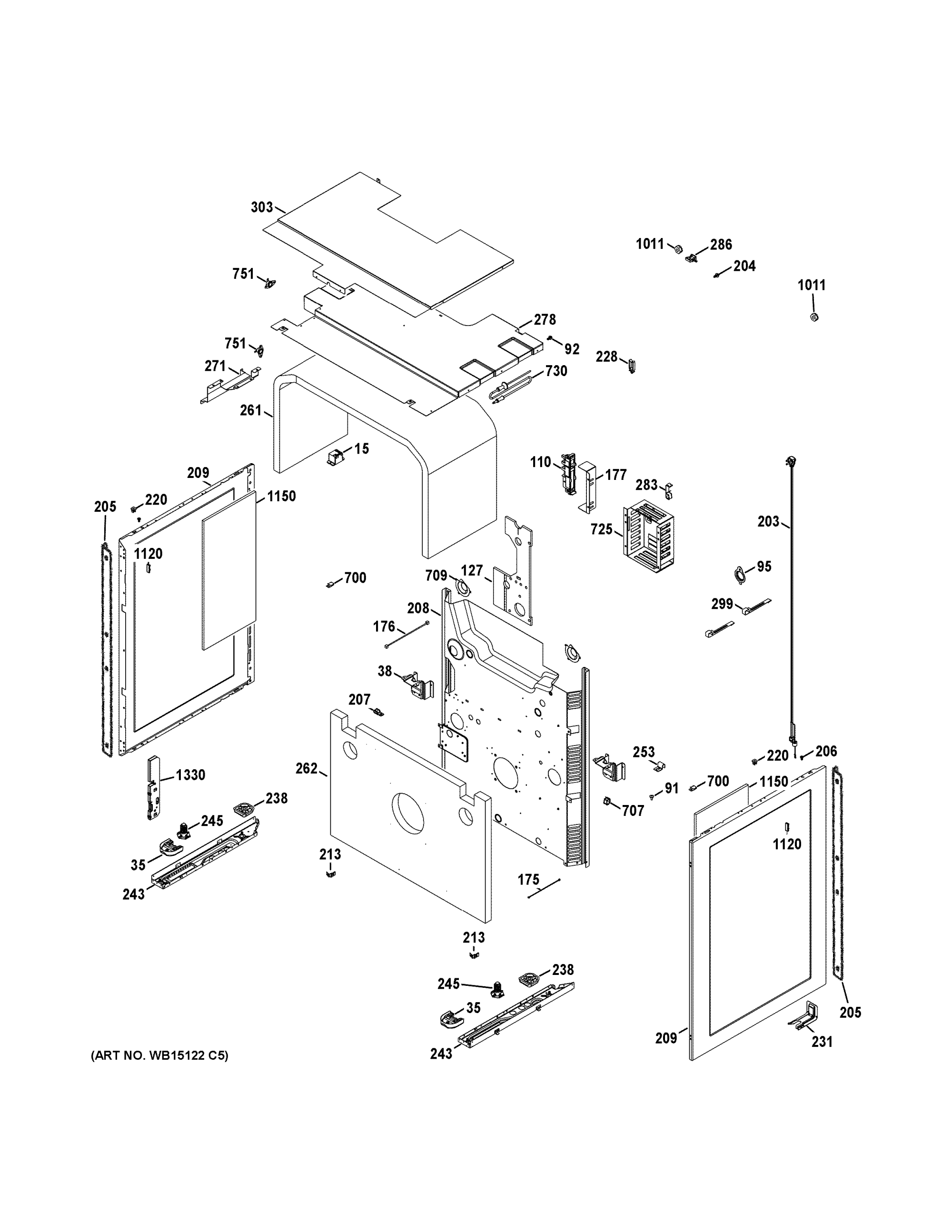 hight resolution of ge cgs990set2ss body parts diagram