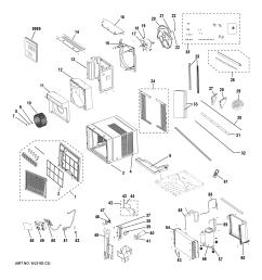 ge ahs14axl1 room air conditioner diagram [ 2448 x 3168 Pixel ]