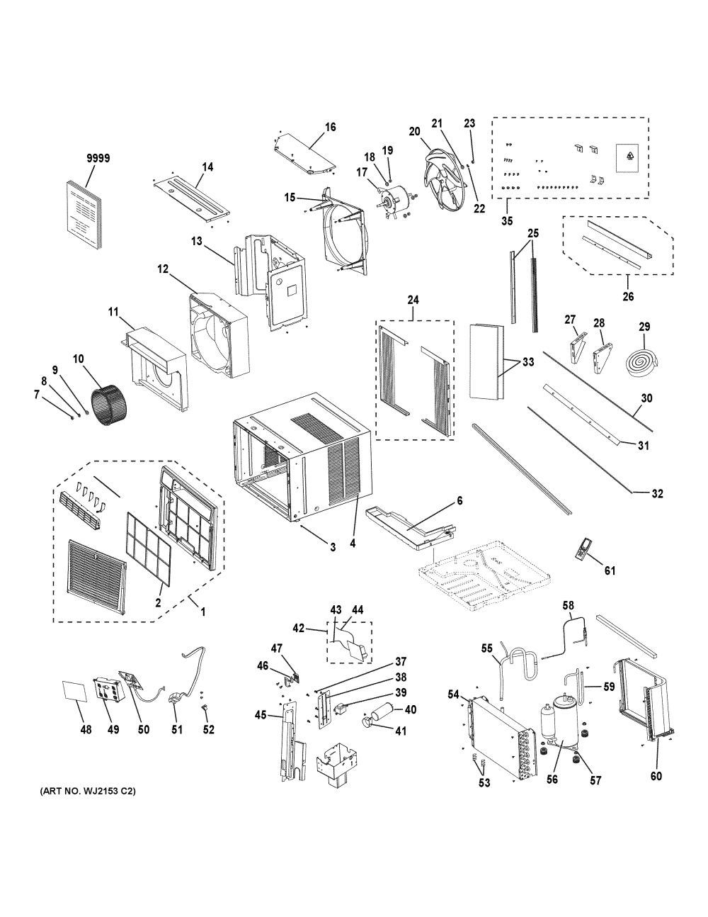 medium resolution of ge ahs14axl1 room air conditioner diagram