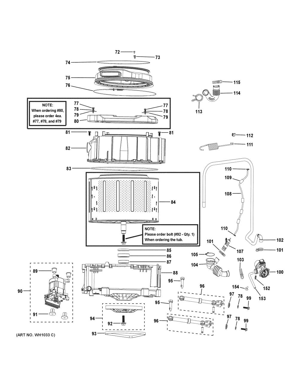 medium resolution of haier hlc1700axs tub motor diagram