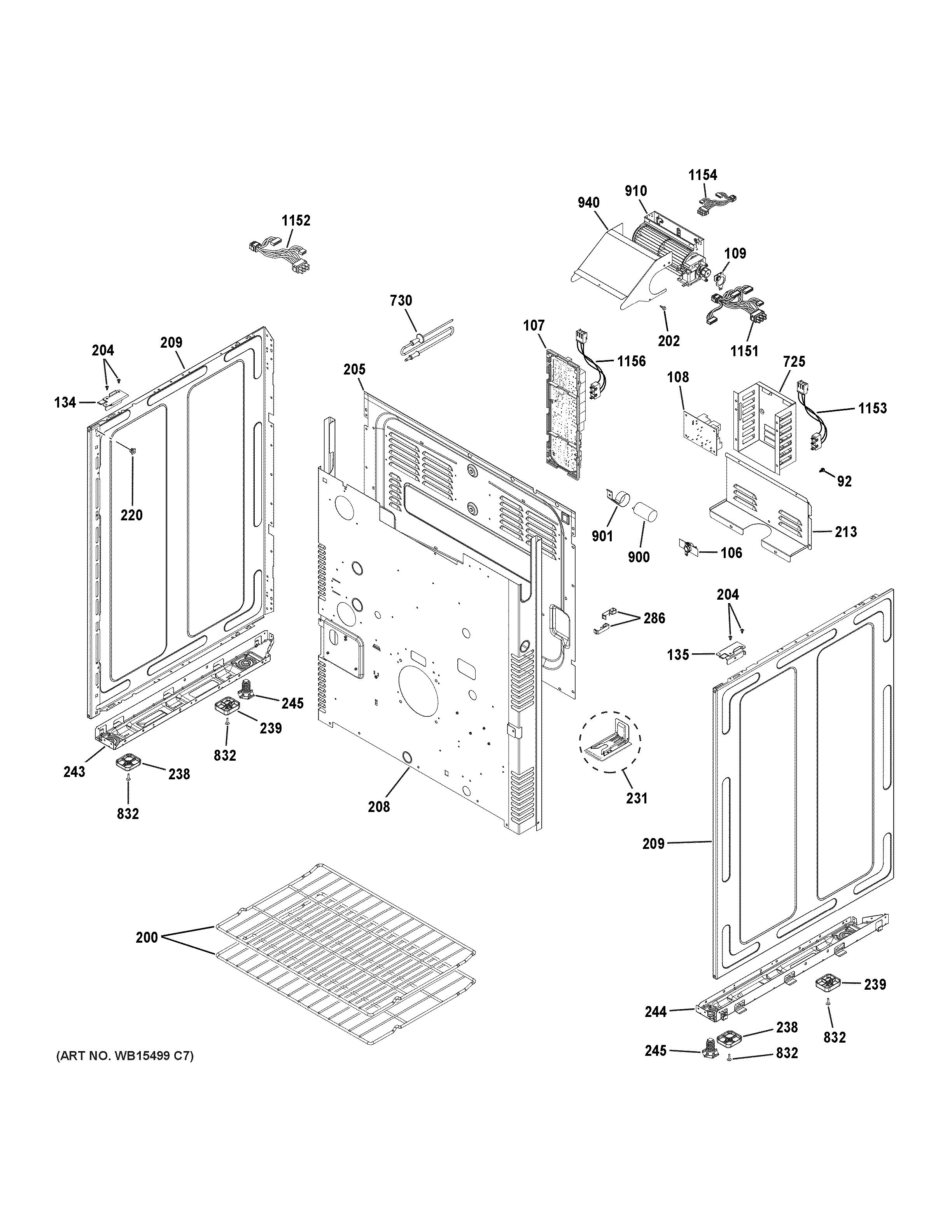 medium resolution of ge c2s950p2m1s1 body parts diagram