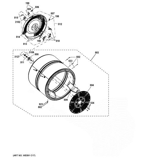 small resolution of ge gfd40escm0ww drum diagram