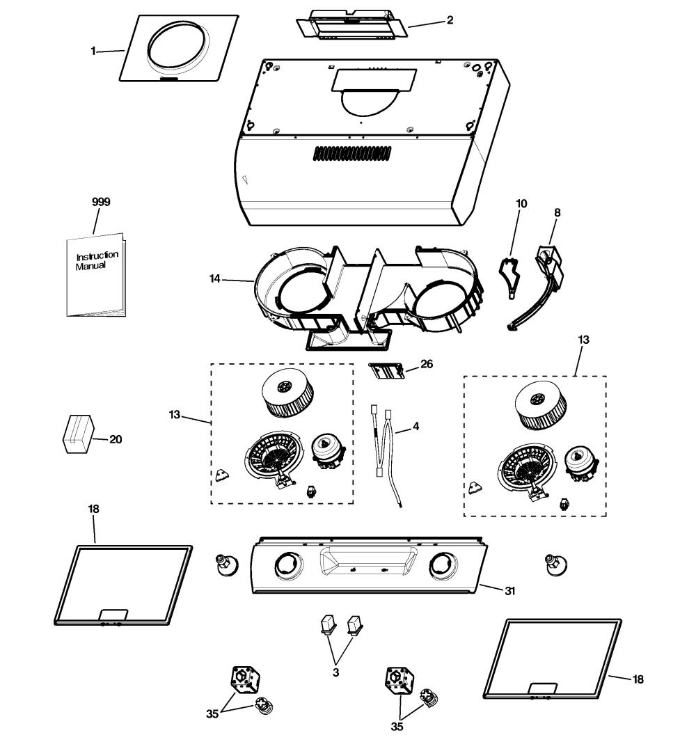 medium resolution of ge jv536h1ss range hood diagram