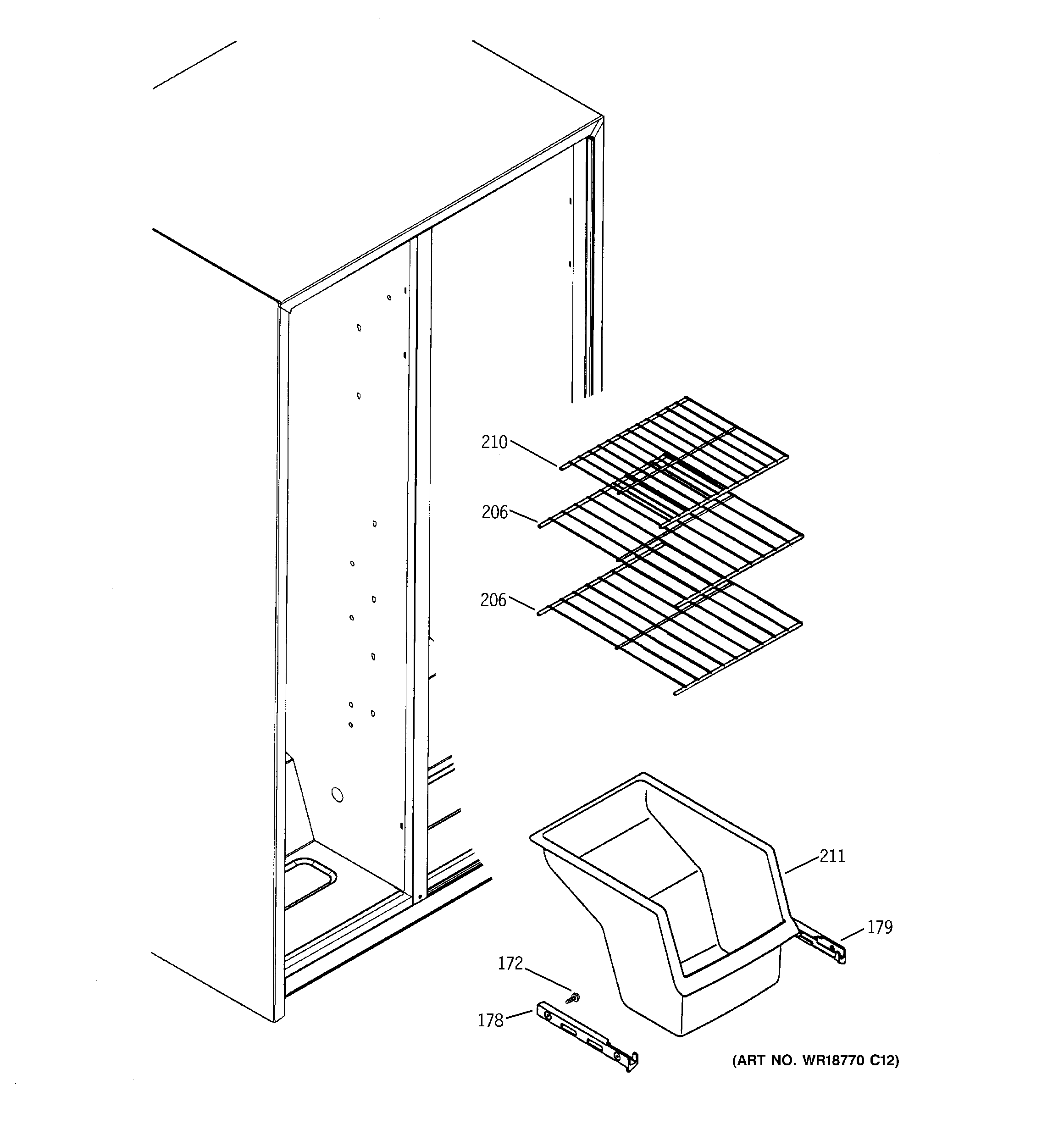 FREEZER SHELVES Diagram & Parts List for Model a4425gdtbww