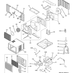 Air Conditioning Components Diagram Home Power Saver Circuit Ge Room Conditioner Parts Model Agl24dam1 Sears
