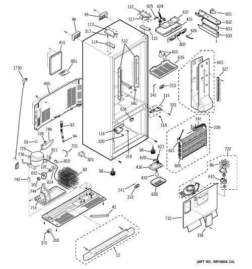 small resolution of ge pfs22sisbss cabinet diagram