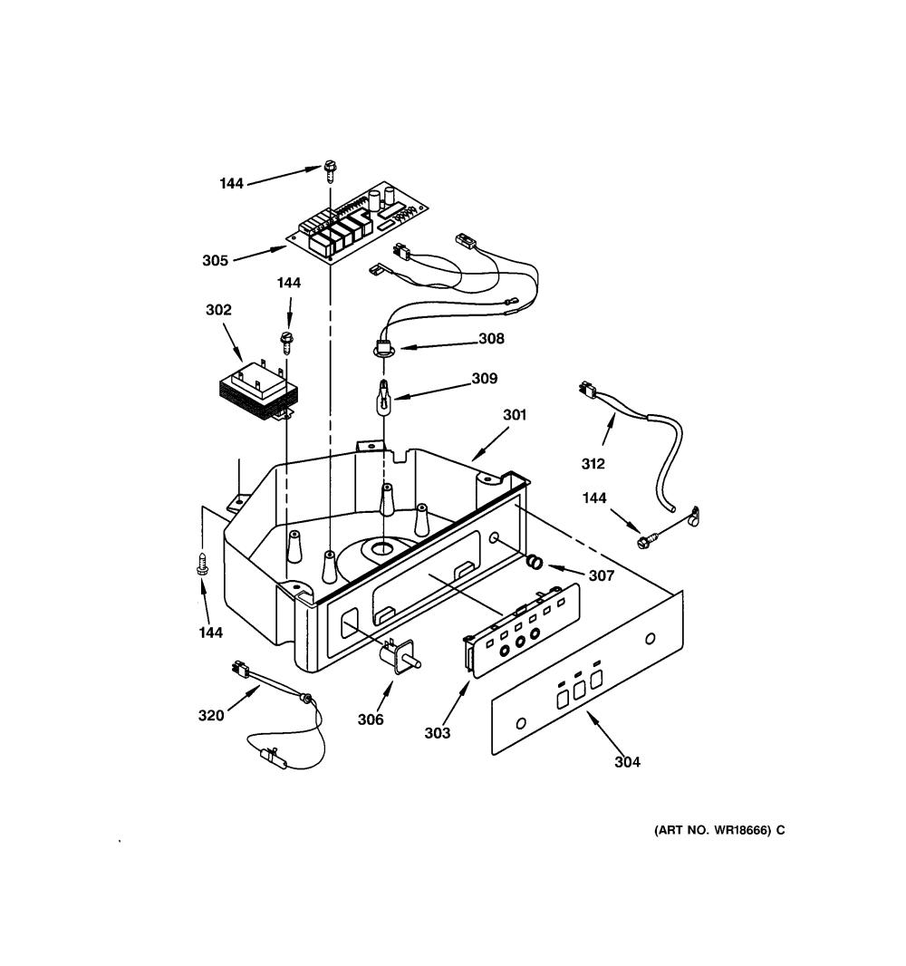 medium resolution of ge ice cube maker control panel parts model zdis15cssp
