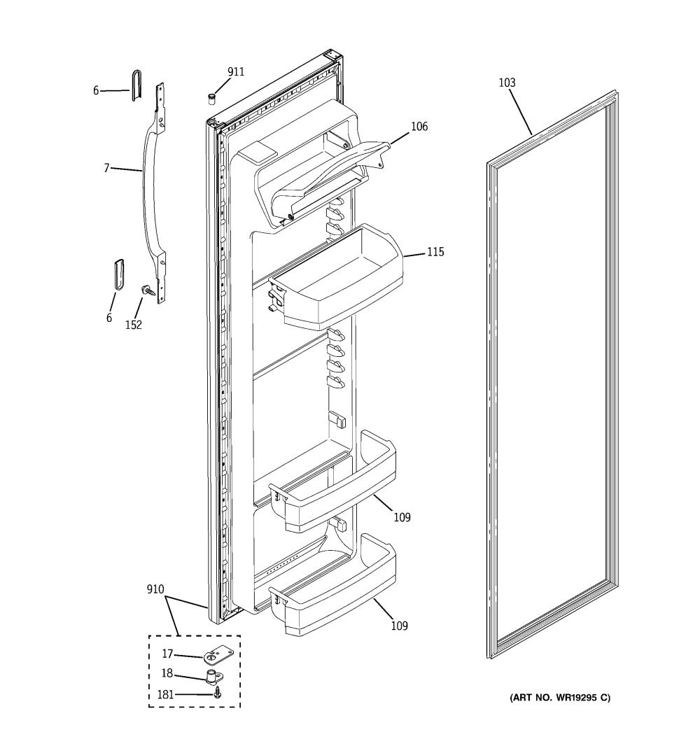 medium resolution of hotpoint model hsm25gfrfsa side by side refrigerator genuine parts wire diagram for ge refrigerator model 22 25