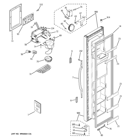 small resolution of ge hotpoint refrigerator replacement parts
