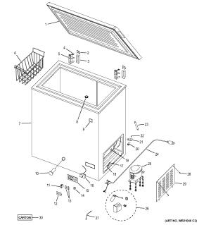 GE FREEZER Parts | Model FCM7SUHWW | Sears PartsDirect