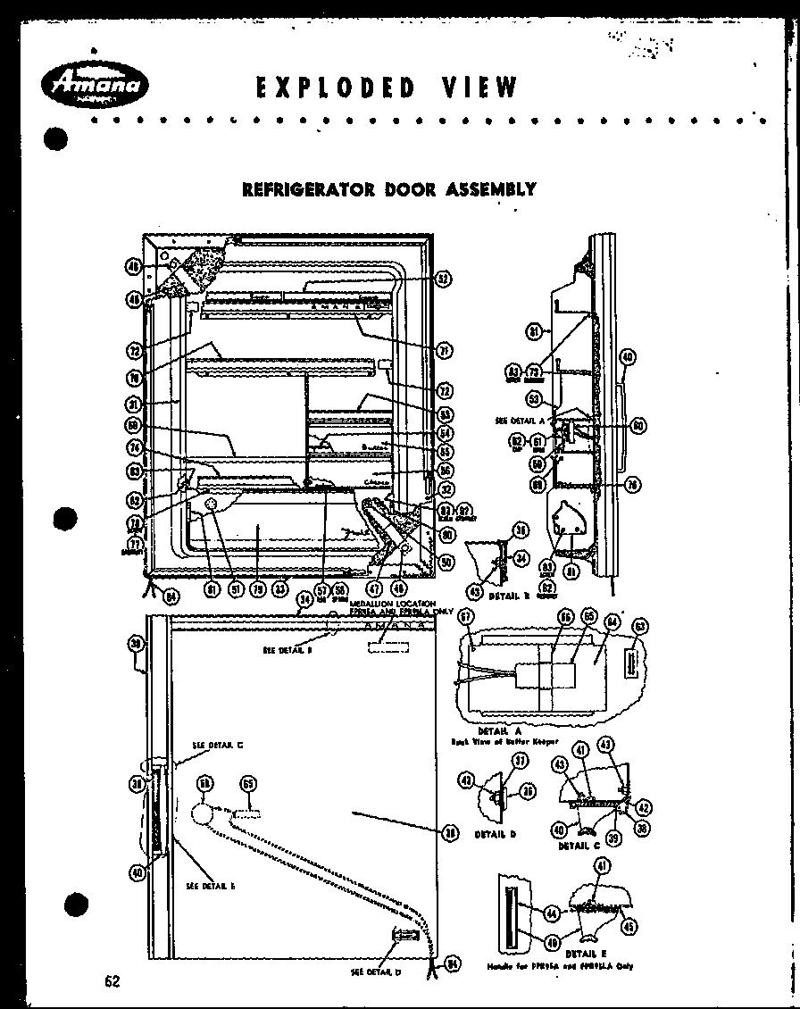 AMANA 1960 Freezer Plus Refrigerator Cabinet assembly
