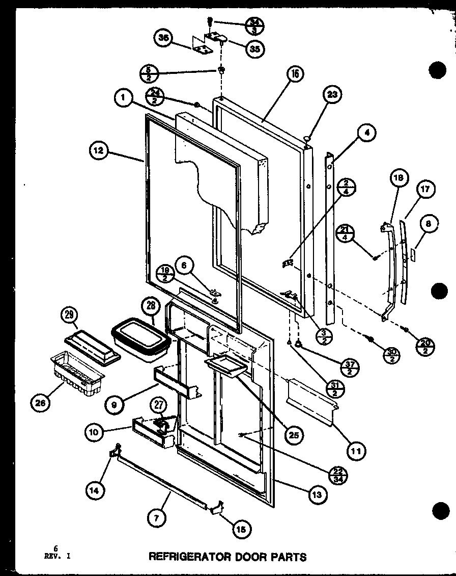 AMANA Bottom Mount Refrigerator Freezer Freezer door Parts