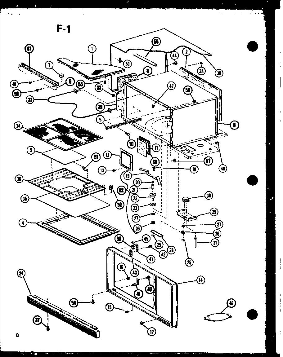 AMANA Radarange Plus Microwave Convection Oven Control