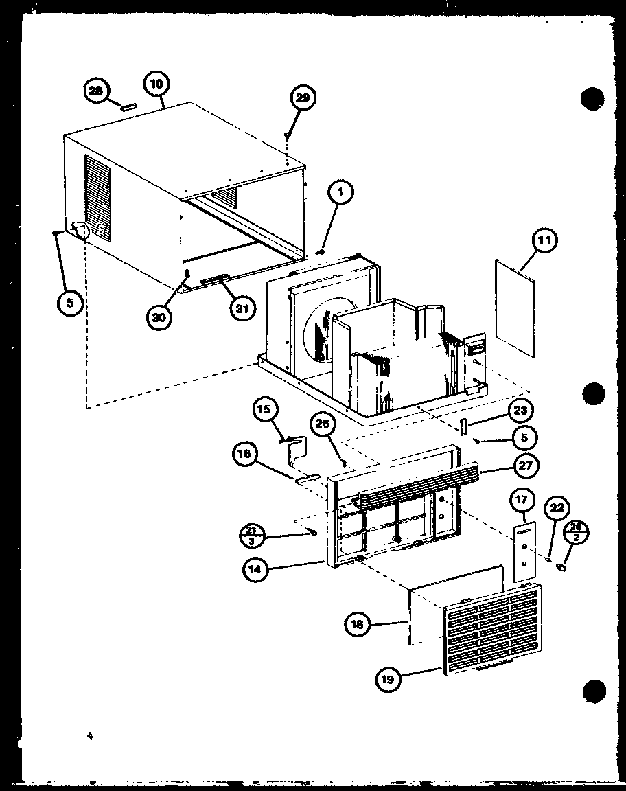 diagram parts list for model 7p2my amanaparts roomairconditioner