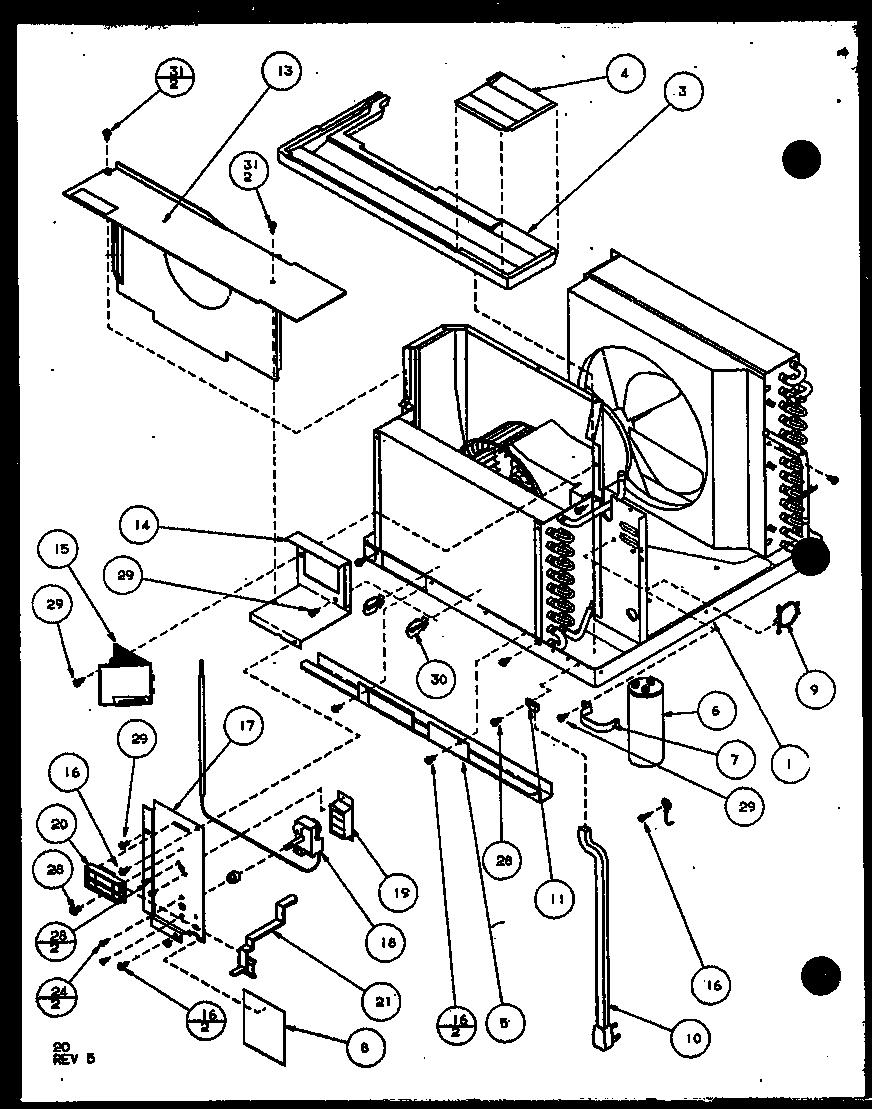 AMANA Room Air Conditioner Portable (5p2ms/p9931511r