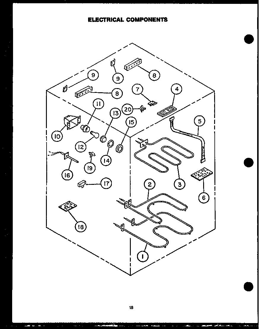 MODERN MAID Electric Self-Clean Downdraft Range Parts