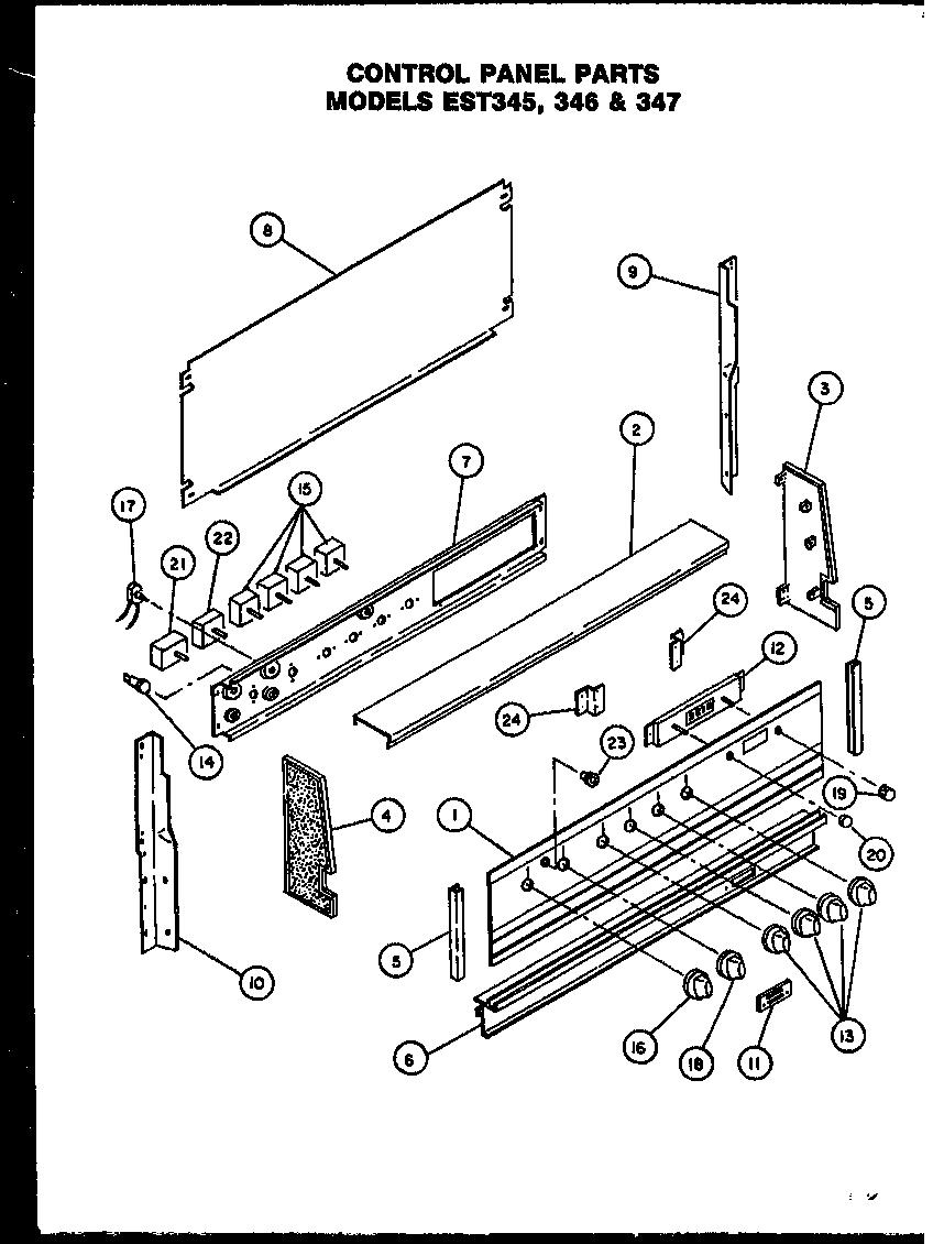 CALORIC Electric Ranges (est345) (est346) (est347