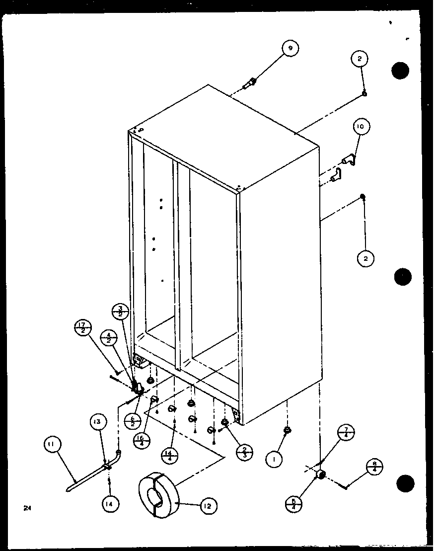 Cube Compact Ice Maker Diagram And Parts List For Amana Refrigerator