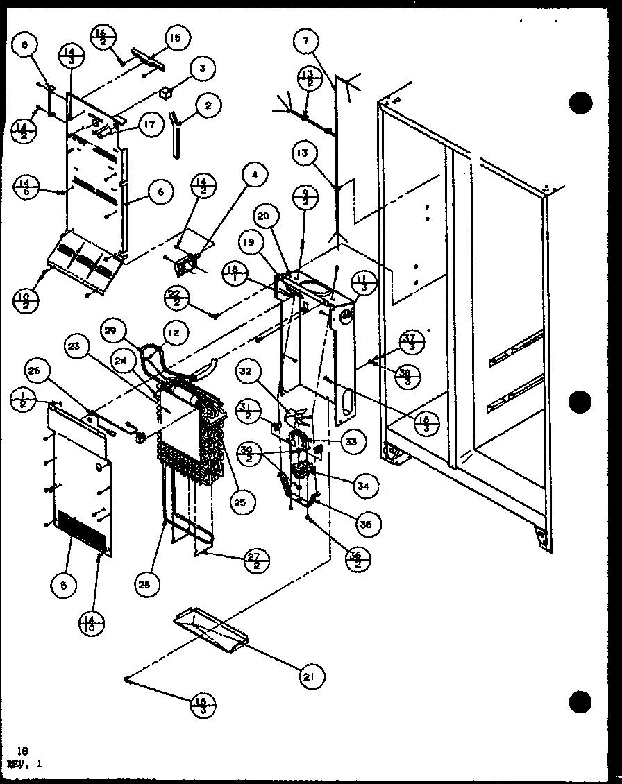 AMANA H Model Side By Side Automatic Refrigerator Freezer
