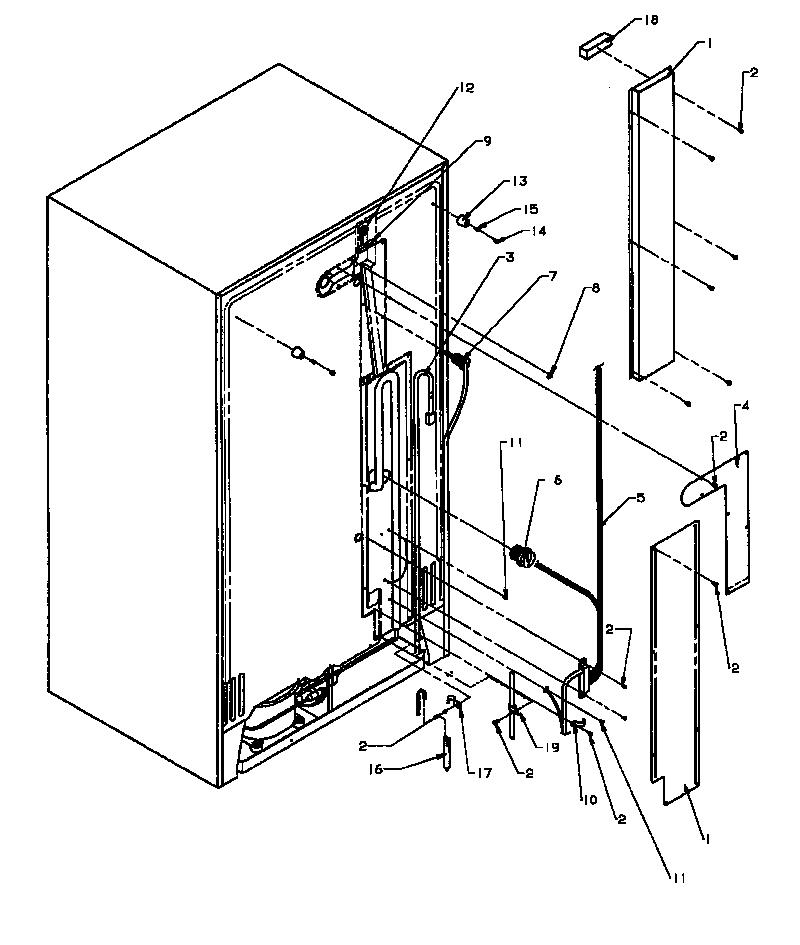 BACK UNIT Diagram & Parts List for Model SX22NWP1162703WW